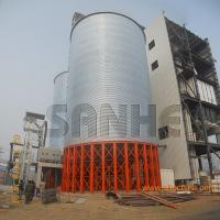 China vertical hot galvanized steel plate made corn storage silo for sale on sale