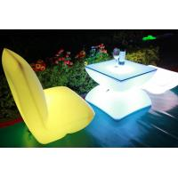 Quality Illuminated Rechargeable LED Tables And Chairs With 4000 Mah Lithium Battery for sale