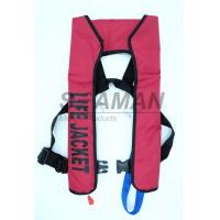 China 150N EN / ISO Automatic Inflatable Life Jackets 210D Nylon TPU Single Air Chamber on sale