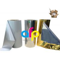 Buy Various Color Metalized Polyester Film For Lamination 180 - 1300mm Roll Width at wholesale prices