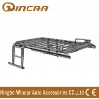 Quality Jeep Wrangler Automotive Roof Rack Basket Iron Body No Net With Ladders for sale