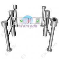 Quality Swing Barrier Gate 304#Stainless Steel With Guardrail That Can Installed Access Reader for sale