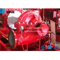 Quality High Performance Split Case Fire Pump , Fire Fighting Water Pump 180kw Shaft Power for sale