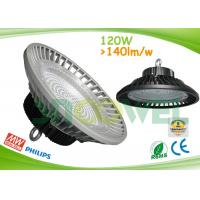 Quality 145lm / w UFO led industrial lamp 120w, Philips 3030 SMD with 90 degree PC lens for sale