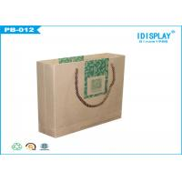 China Personalised Brown Paper Cloth Gift Bags / Recycled Gift Bags on sale