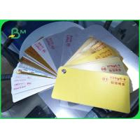 Quality Recycled Pulp Type Ivory Board Paper Metallized Film Surface Material for sale