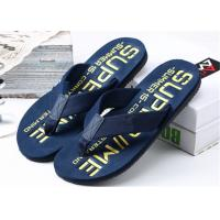 Quality Summer Womens Thong House Slippers , Plastic Flip Flops With Fashion Letters Printed for sale