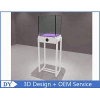 Buy cheap Simple White Wood Metal Glass Jewelry Display Case / Store Display Showcase from wholesalers