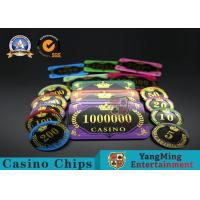Quality Acrylic Crystal RFID Rectangular Poker Chips Plaque Casino Jeton Real Gaming for sale