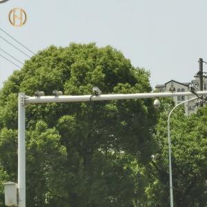Quality 10M Hot Dip Galvanized A36 CCTV Camera Pole for sale
