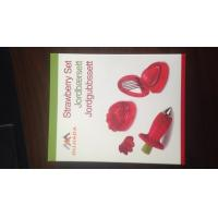 Quality Plastic Strawberry Slicer Cutter Set with Stainless Steel Blades for sale
