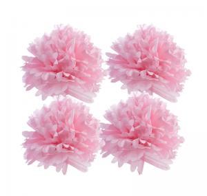 China 16 Pom Pom Tissue Flower Balls (2 Round, 2 Straight) on sale