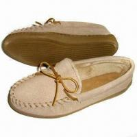 Quality Women's Shoes with B Grade Cow Suede Upper, Micro Terry Lining and TPR Outsole for sale