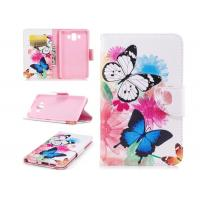 Quality Colorful Butterfly Card Pocket Phone Case , Cell Phone Wallet Case For Huawei for sale