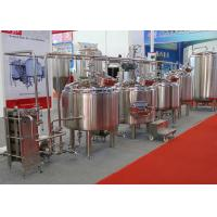 Quality Micro Automatic Commercial Beer Brewing Equipment Mirror Polish Inner Surface for sale