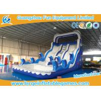 China Ocean Commercial Inflatable Slide / Inflatable Stair Slide With Two Slide Way on sale