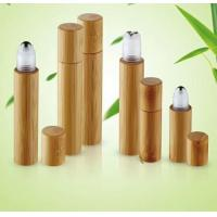 Quality China made cosmetic packaging bamboo  roll on bottle perfume 5ml 10ml 15ml with window for sale