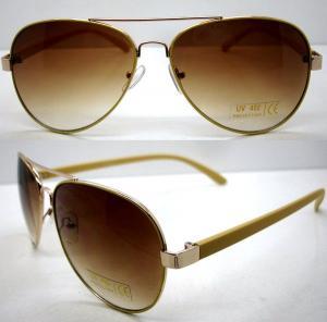 Quality Handmade Round Brown Metal Frame Sunglasses , Men Eye Glasses for sale