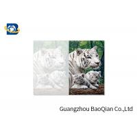 Quality Lovely Animals 3D Image Lenticular Card Printing Two Sides CMYK Offset Printing for sale