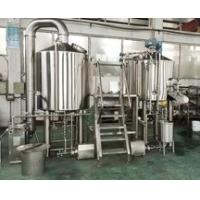 Quality 600L Brewery Plant Manual Micro Brewing Equipment With Wort Detecting Station for sale