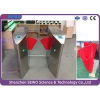 Quality Glass Swing Automatic SEWO Flap Barrier Gate , IP54 speedgate systems for sale