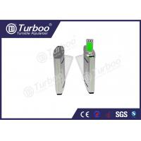 Quality Access Control Flap Barrier Gate / Electronic Turnstile Gates Infrared Sensors for sale