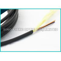 Quality 5.0MM Black 24 Strand Single Mode Fiber Optic Cable Non Armoured Loose Tube Cable for sale