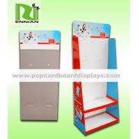 China Tired POS floor display stand with metal hooks for stationery /kitchen ware etc on sale