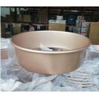 Quality Shallow Baking Cheese Cake Pan Mould Bakeware Golden Color With Removable Bottom for sale