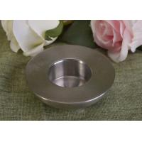 Quality 25Ml Mini Simple Silver Tealight Metal Candle Holders Thick Wall Eco Friendly for sale