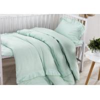 Quality Size Adjustable 5 Pcs Modern Crib Bedding Sets Double Gauze / Cotton Ruched for sale