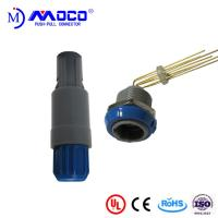 China Beauty Therapy Systems Plastic Push Pull Connectors With Blue Nut M14  2-14 Pin on sale