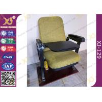 Buy Fixed Leg Foldable Movie Theater Seats With Writing Table , Plastic Church at wholesale prices
