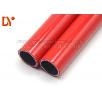 China Red Color Plastic Coated Pipe Anti Corrossion 28mm Diameter Long Service Life on sale