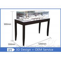 Quality OEM Simple inexpensive Wooden Jewellery Shop Counter Design  With Led Lights for sale