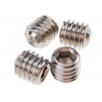 Quality M5 x 10mm Stainless Steel Grub Screws Hexagonal Socket Cup Point DIN 916 for sale