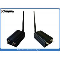 Quality Long Range Security Analog Video Transmission , 2000mw Wireless Av Sender 1.2ghz for sale