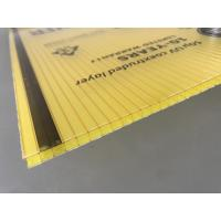 Buy Yellow Color Polycarbonate Twin Wall Roofing Sheets 4mm - 10mm Thickness at wholesale prices
