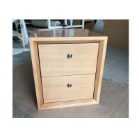 Quality 2 Drawers Hotel Nightstand , Modern Storage Nightstand Customized Size for sale