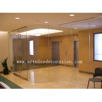 Quality 6mm to 12mm tempered / toughened glass door with ISO9001, CE, Australia  AS/NZS 2208 Certificate for sale