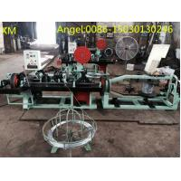 Buy Straight and Reverse Twisted Barbed Wire mesh Machine with High Speed at wholesale prices