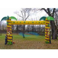 Quality 4X3m Customized Welcome Inflatable Arches Waterproof Finish Line Arch for sale