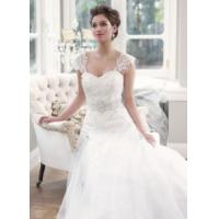 China China 2014 Latest Lace/Tulle Train Hotel Bridal Wedding Dress with White, Ivory for sale