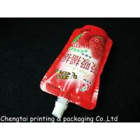 Quality Moisture Proof 200 Ml & 250 Ml Liquid Spout Bags In Instant Drink Food Packaging for sale