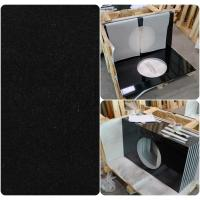 Quality Black Natural Granite Countertops , High Density Solid Black Granite Countertops for sale