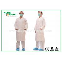 China White tyvek disposable lab coats / protective disposable chemical suits Breathable on sale