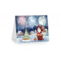 Quality 3D 12x17cm Greeting Card Lenticular Printing Services  With Customized X-mas Images for sale