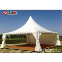 Quality High Capacity Lightweight Pagoda Party Tent For 300 People With French Windows for sale