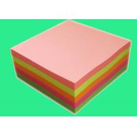 China Professional Neon Colorful Sticky Note Cube 3 in x3 in 300 sheets on sale