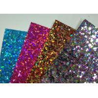 Quality 300g White Cardboard Back Chunky Glitter Paper For Wall Paters And Crafts for sale